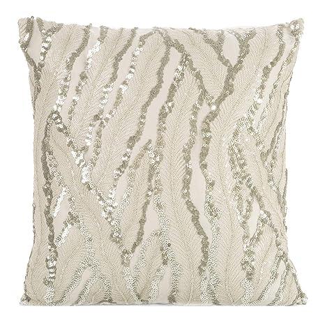 Eurofirany Glamour - Funda de cojín para sofá (45 x 45 cm ...