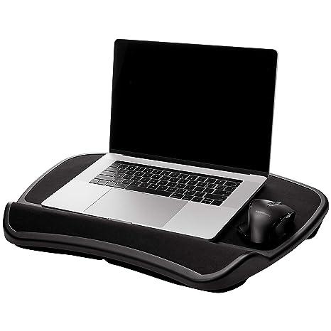 Amazonbasics Xl Laptop Lap Desk Tray With Cushion Fits Up To 17 3 Inch Laptops