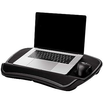 AmazonBasics - Bandeja XL para portátil con cojín, apta para ...