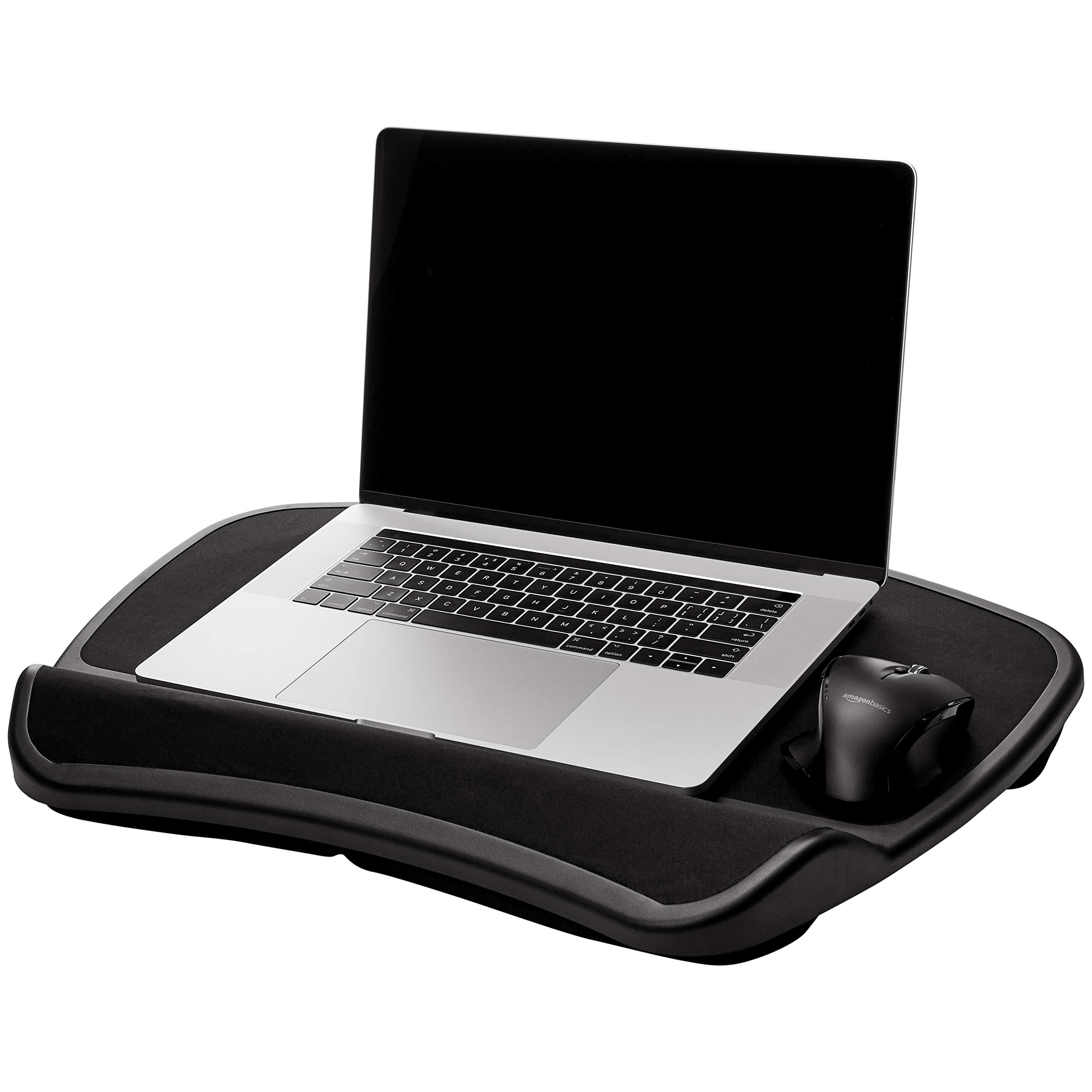 AmazonBasics XL Laptop Lap Desk Tray with Cushion, Fits up to 17.3 Inch Laptops by AmazonBasics (Image #1)