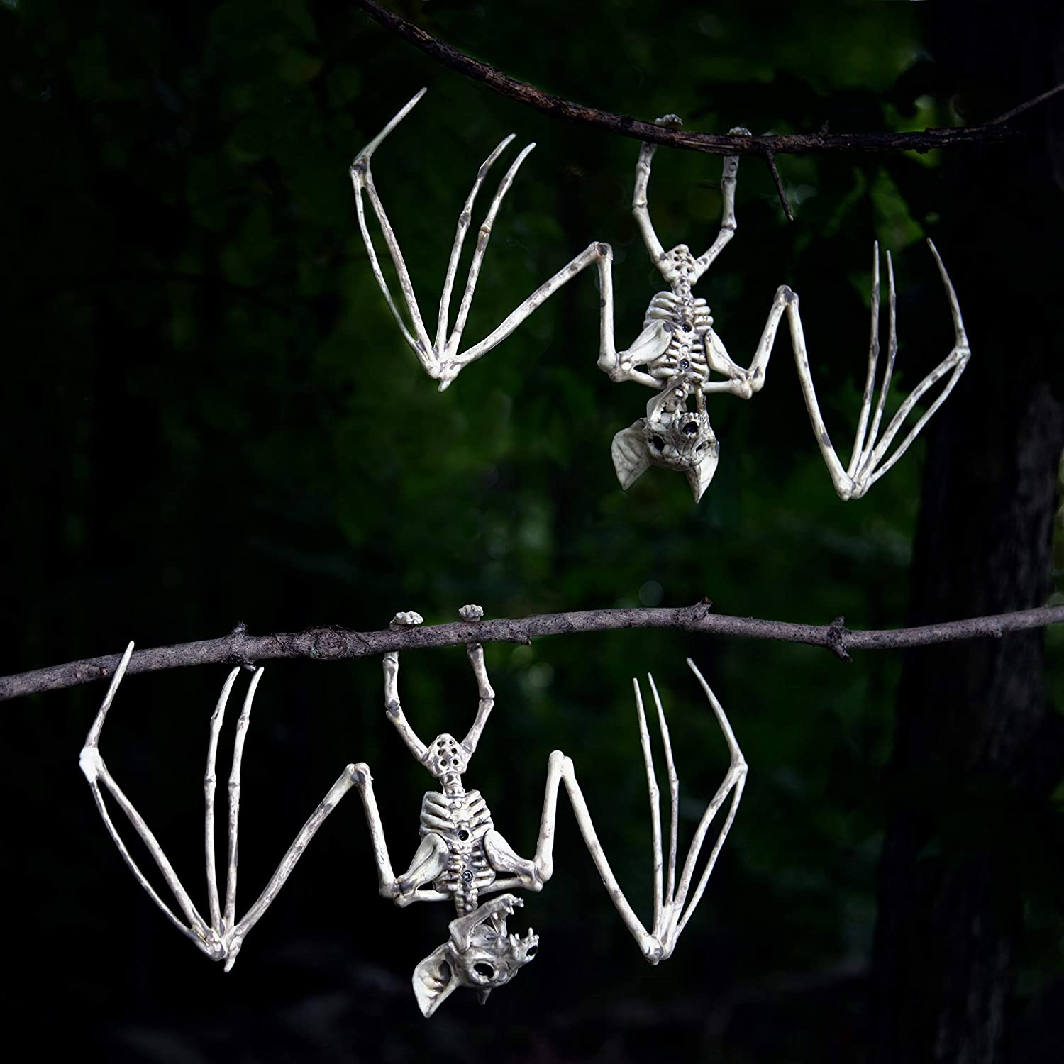 Table Lawn Skeleton Decoration Halloween Props and Decorations Bat Mouse Spider