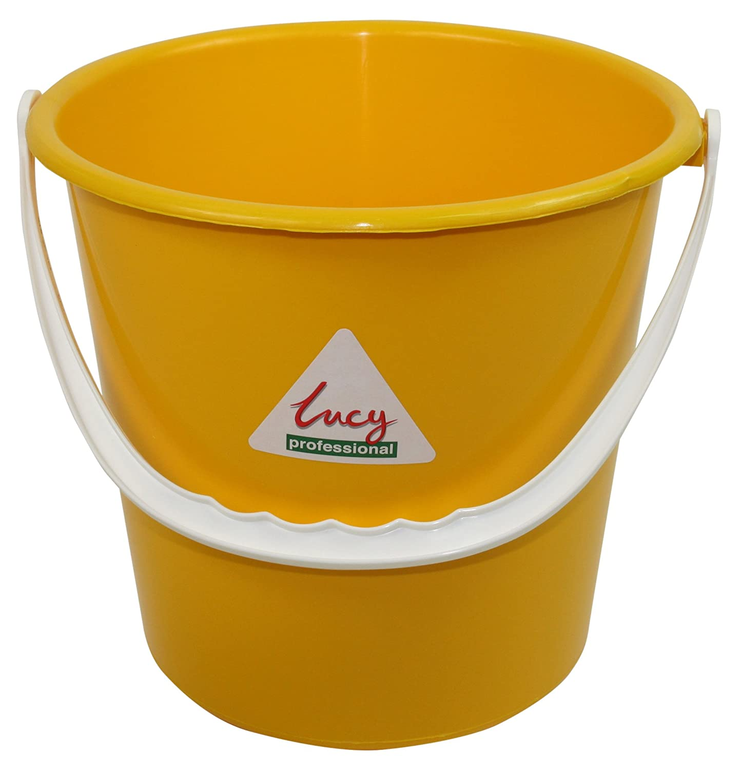 SYR L1414294 Lucy Polypropylene Colour Bucket, 10 L Capacity, Yellow (Pack of 5) SYR Benelux V.O.F.