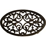 French Kitchen Collection Large Trivet Oval, Black
