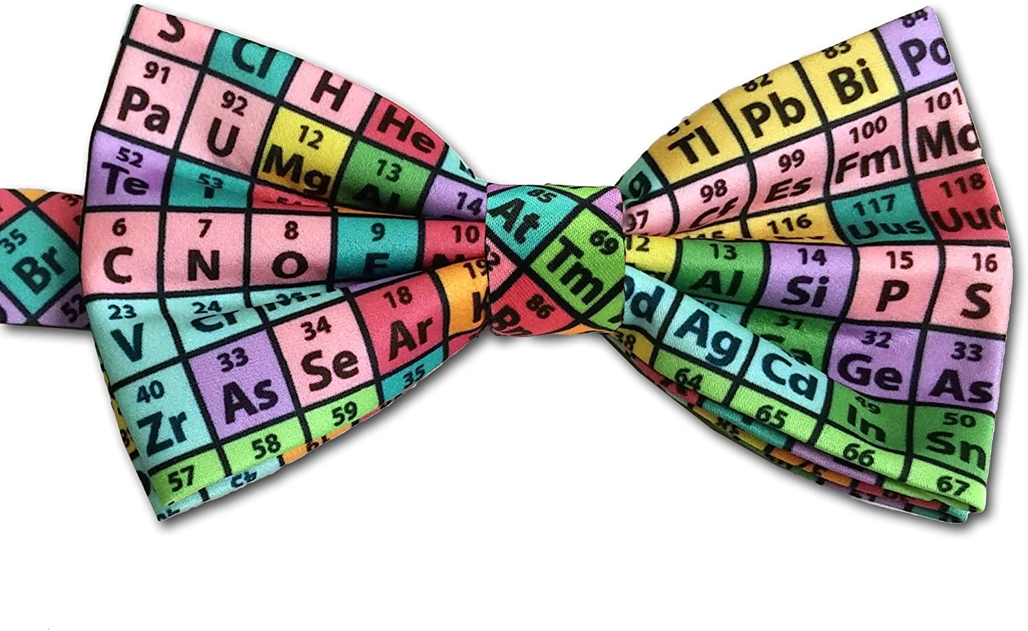 Periodic Table Men/'s Bow Tie Adjustable Chemical Science Scientist Blue Bowtie