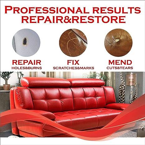 Amazon.com: Kit de reparación de cuero y vinilo – Parche de ...