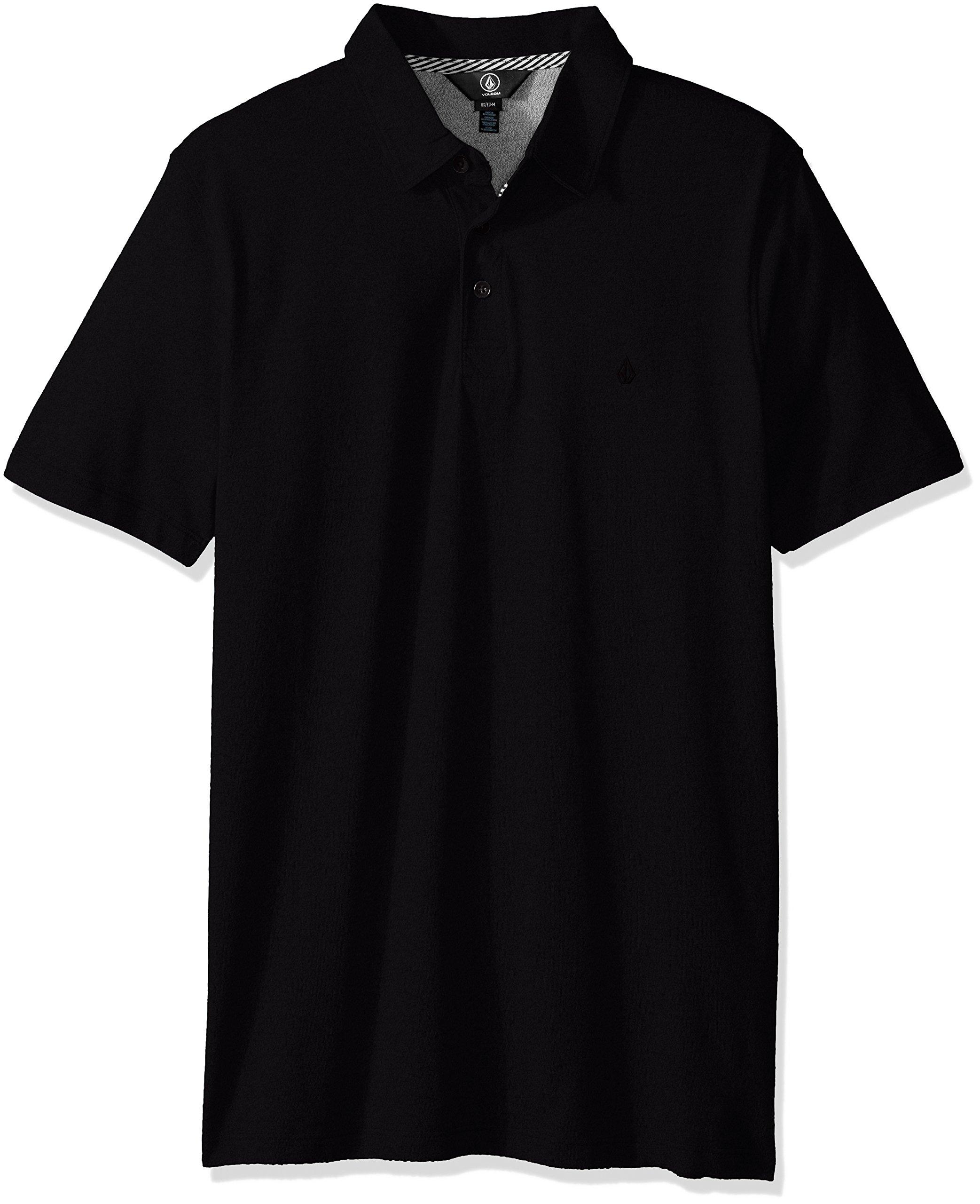 Volcom Men's Wowzer Modern Fit Polo, Black 2, Medium