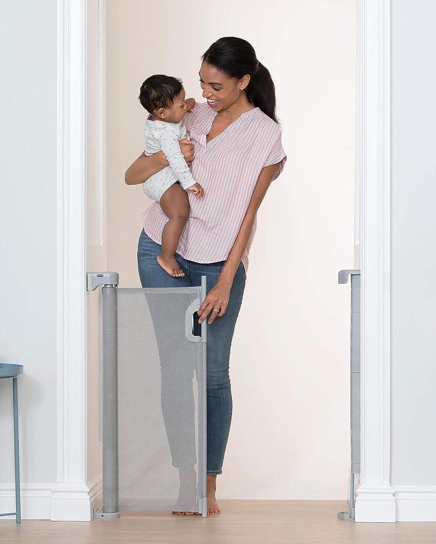 Skip Hop Playview Retractable Baby Gate Grey Mesh