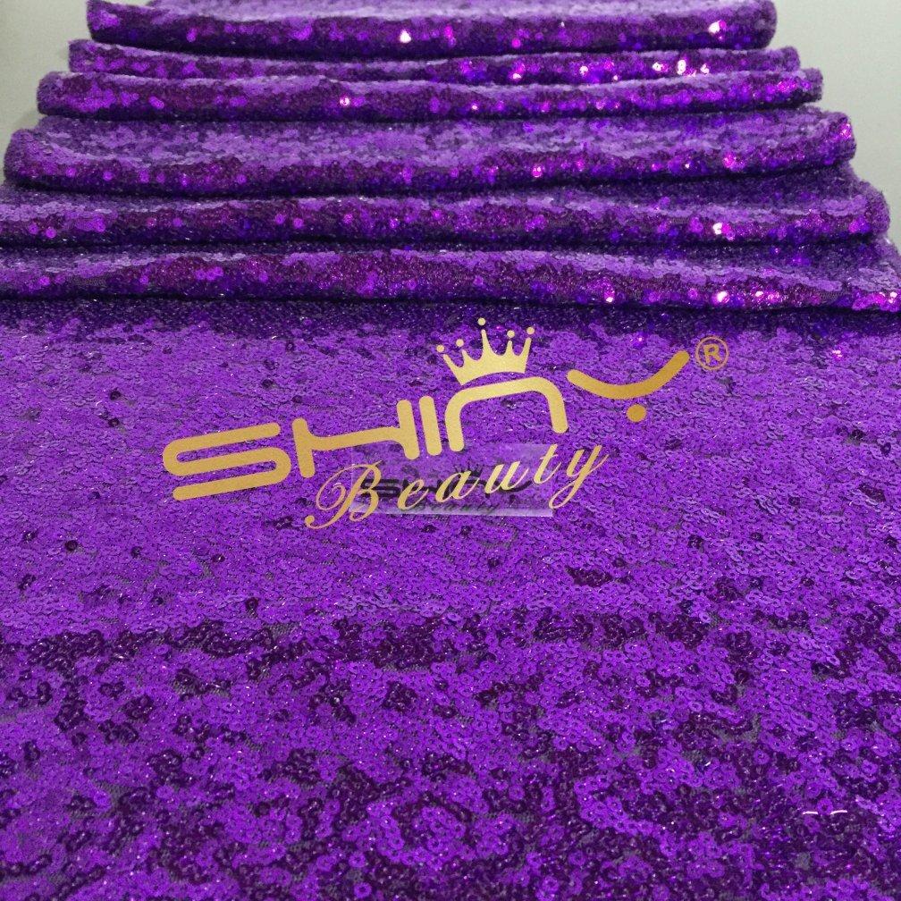 ShinyBeauty Purple-Aisles Runner Personalized,Sparkle Wedding Aisle Runner Long(70FTX4FT Wide) by ShinyBeauty