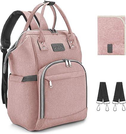 【Gran Capacidad & 14 Bolsillos】- Bebe mochilas para pañales mamá bolso de maternidad impermeable con