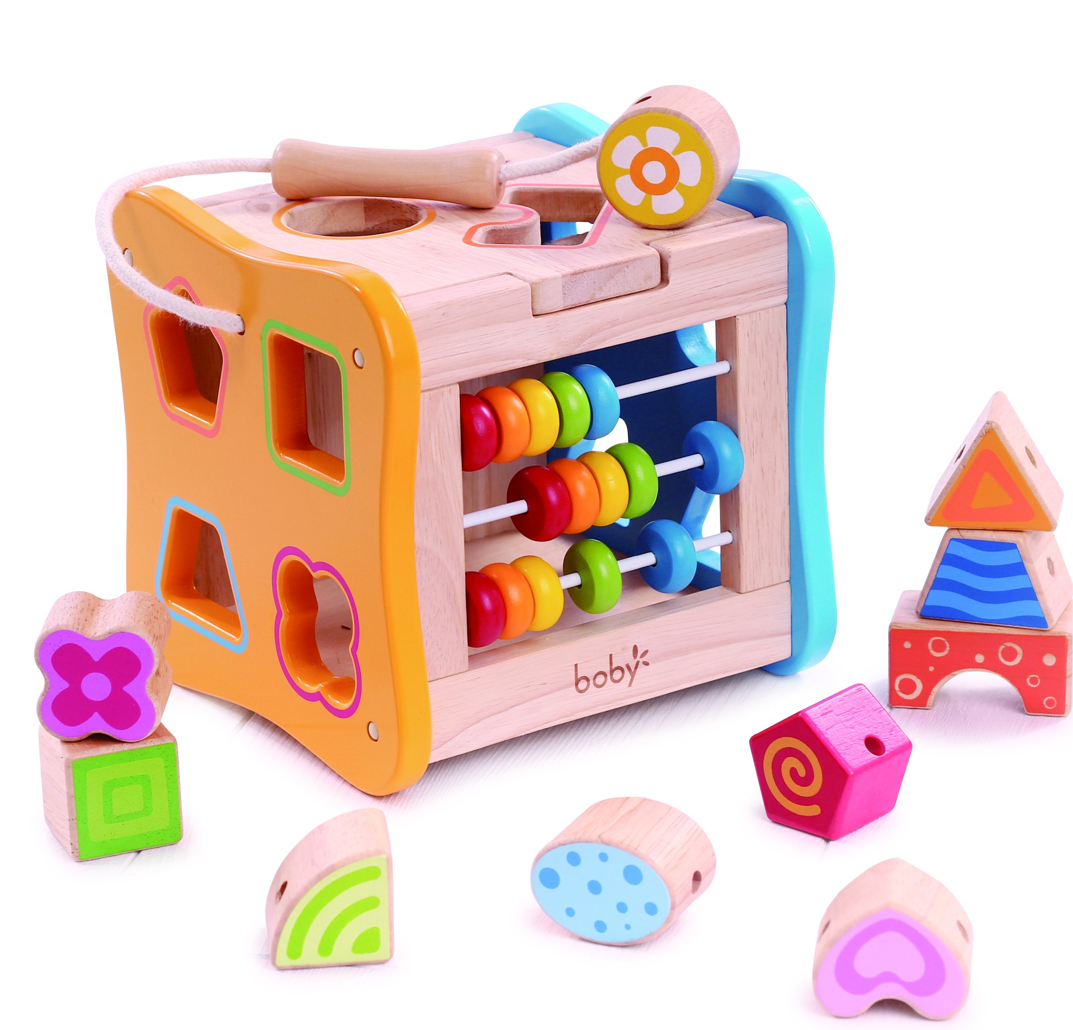 Developmental Toys For Toddlers : Galleon wooden shape sorter lacing beads for toddlers