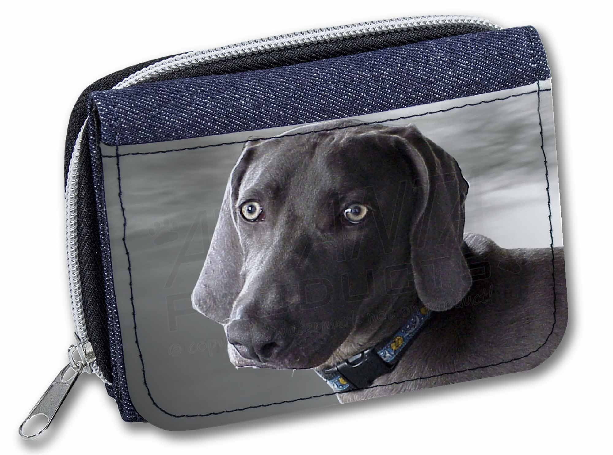 Black Greyhound Dog Girls//Ladies Denim Purse Wallet Christmas Gift Ide AD-GH8JW