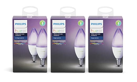 Hue Lampen E14 : Philips hue white and colour ambience led e pack amazon