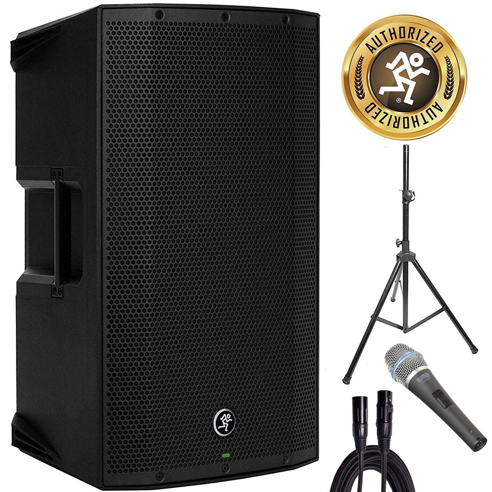 Mackie Thump12BST Boosted 1300W 12'' Powered Loudspeaker w/Speaker Stand, Microphone & XLR Cable by Mackie @ ADW Packages