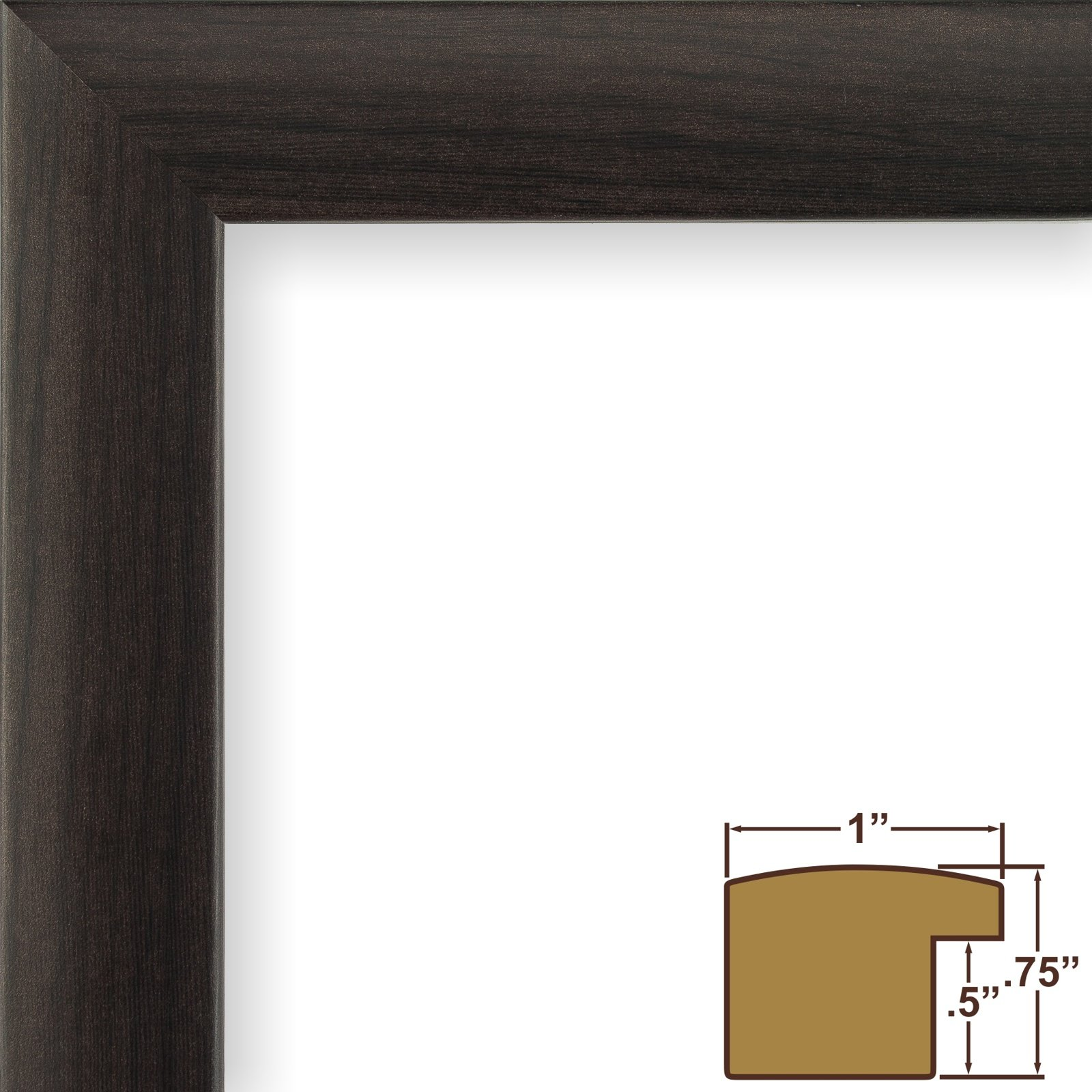 Craig Frames 232477782436AC 1-Inch Wide Picture/Poster Frame in Smooth Wood Grain Finish, 24 by 36-Inch, Brazilian Walnut by Craig Frames (Image #1)