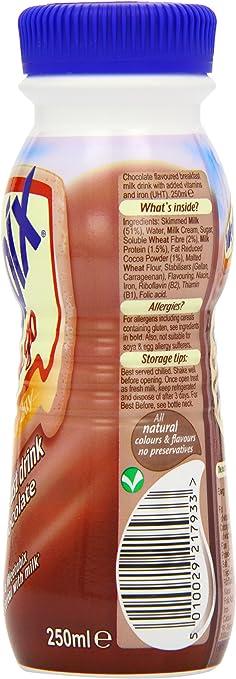 Weetabix Chocolate Breakfast Drink 250 ml (Pack of 8): Amazon ...
