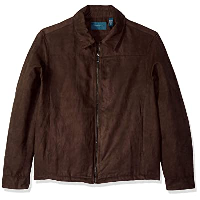 Perry Ellis Men's Big and Tall Faux Suede Shirt Jacket: Clothing