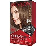 REVLON, Colorsilk Beautiful Color Permanent Hair Color with 3D Gel Technology Keratin 100 Gray Coverage Hair Dye, 40 Medium A