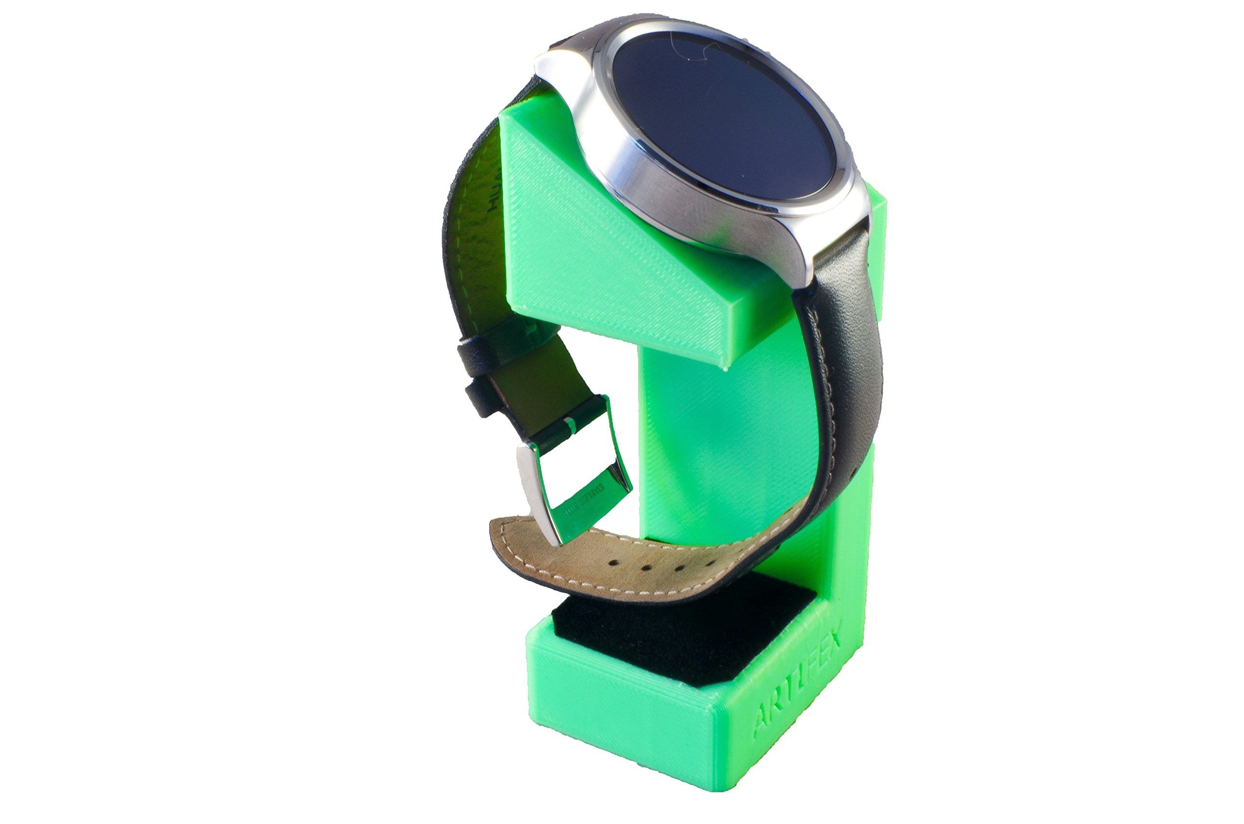 Huawei Watch Stand, Artifex Charging Dock Stand for Huawei Watch, New 3d Printed Technology, Smartwatch Cradle (Android Green)