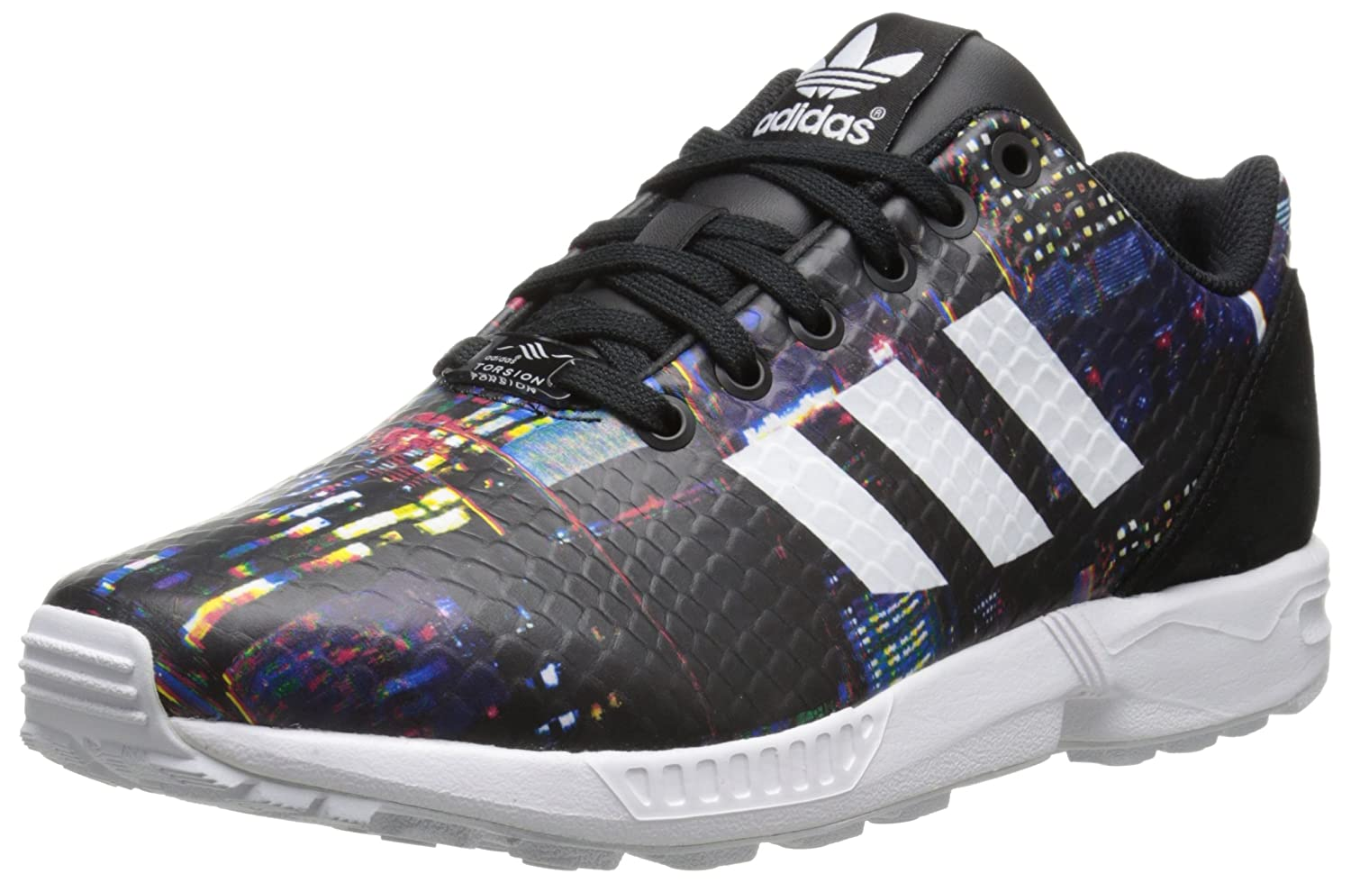 adidas Originals Women's ZX Flux W Lace-Up Fashion Sneaker B00LLSE9Q6 7 M US|Core Black/White/Black