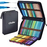 80 Colors Art Markers Set, Ohuhu Dual Tips Coloring Brush Fineliner Color Marker Pens, Water Based Marker for…