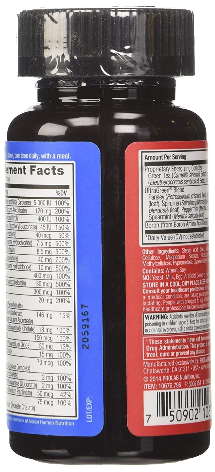 Amazon.com: ProLab Energizer Multiple Supplement, 60 Count (Pack of 12): Health & Personal Care