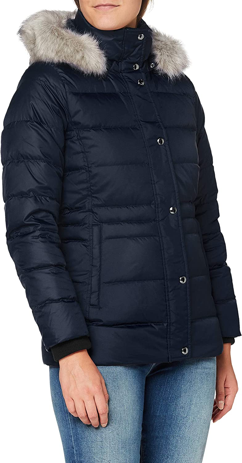 Tommy Hilfiger TH ESS Tyra Down Jkt with Fur Chaqueta para Mujer