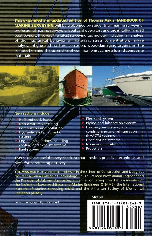 Handbook Of Marine Surveying Pb Thomas Ask Amazoncomau Books