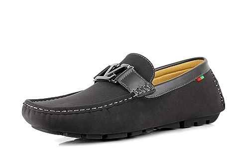JAS Caballeros Antideslizamiento Encendido Diseño Mocasines Conducir Zapatas Informal Italian Moderno Mocasines: Amazon.es: Zapatos y complementos