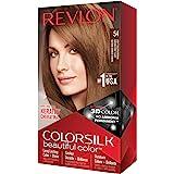 REVLON Colorsilk Beautiful Color Permanent Hair Color with 3D Gel Technology Keratin 100 Gray Coverage Hair Dye, 54 Light Gol