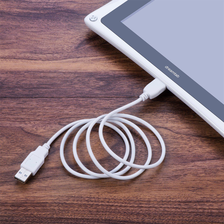 S XD Jr Elev-8/ iFeeker 1,8/m//2/M de remplacement chargeur USB c/âble de synchronisation de donn/ées Cordon pour tablette Fuhu Nabi Dreamtab Nabi JR Nabi 2S Rouge et blanc
