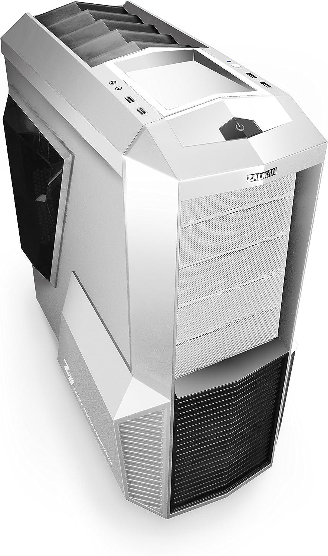 Zalman Z11 Plus-W ATX Gaming Mid Tower Carcasa de Ordenador, Color Blanco: Amazon.es: Electrónica