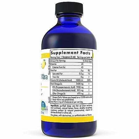 Nordic Naturals ProOmega-D Xtra Liquid - Fish Oil, 1950 mg EPA, 975 mg DHA,  1000 IU Vitamin D3,