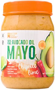 BetterBody Foods Avocado Oil Mayonnaise with Chipotle Lime, Avocado Oil Mayo with Chipotle Lime made with 100% Avocado Oil Non-GMO Cage-Free Eggs Soy & Canola Free, Paleo, 15 oz