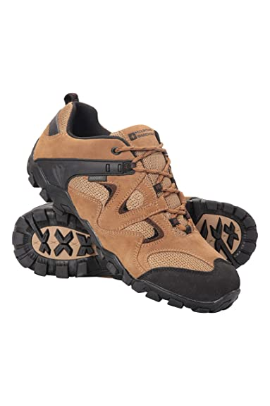3567a547e3f5a Mountain Warehouse Curlews Mens Waterproof Walking Shoes - Quick Drying  Hiking Boots, Suede & Mesh Outer Material Outdoor Shoes, Rubber Sole -  Ideal ...