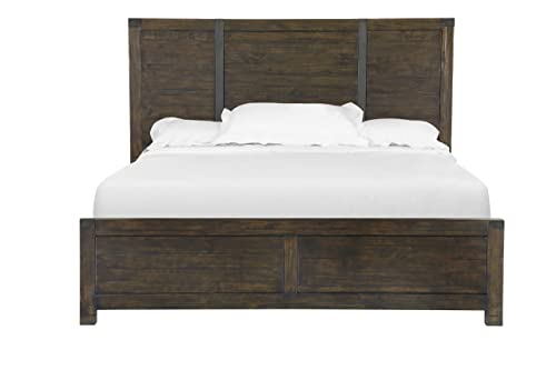 Magnussen Pine Hill Panel Bed King Rustic