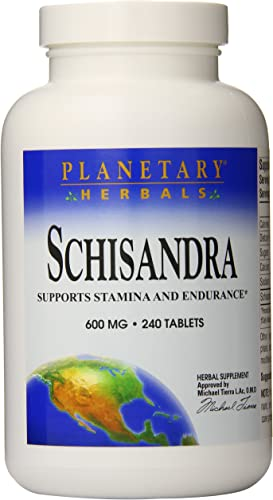 Planetary Herbals Schisandra Tablets, 600 mg, 240 Count