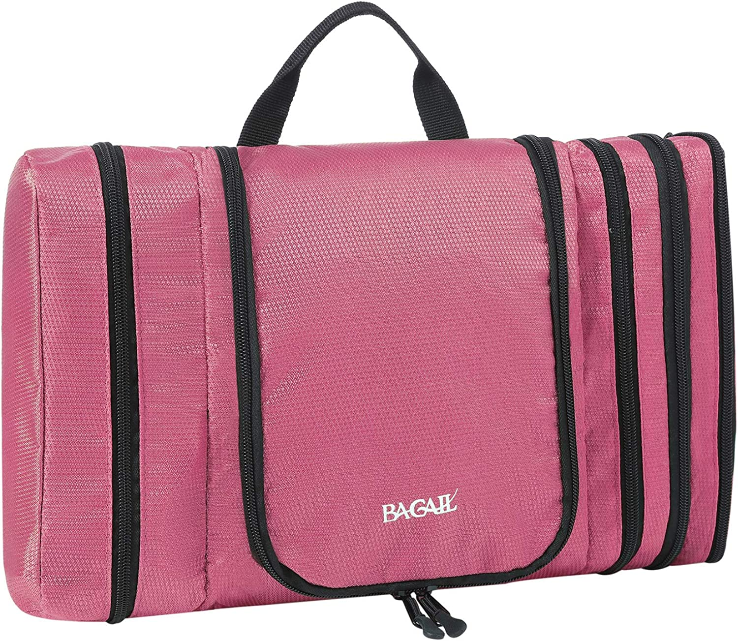 Bagail Pack It Flat Toiletry Kit for Men and Women Waterproof, Portable and Spacious Travel Cosmetic Organizer Bag for Travel Accessories,Personal Items, Makeup and Shaving