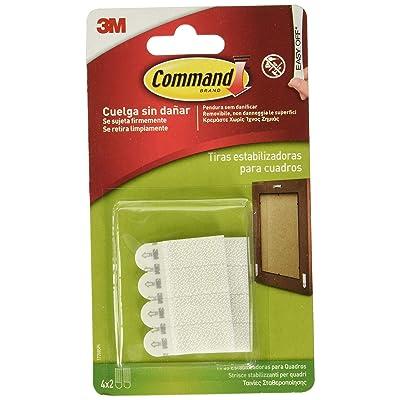Command 17208 Pack de 8 tiras para estabilizar marcos (tamaño micro) color blanco, Set de 8 Piezas: Bricolaje y herramientas