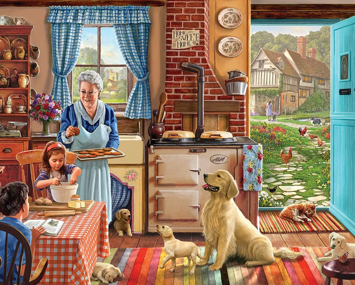 White Mountain Puzzles Cozy Kitchen - 300 Piece Jigsaw Puzzle