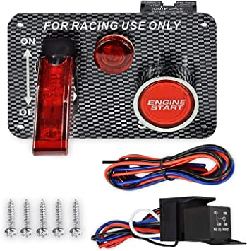 Ignition Switch Panel Push Button Engine Start Toggle for Racing Car 12V
