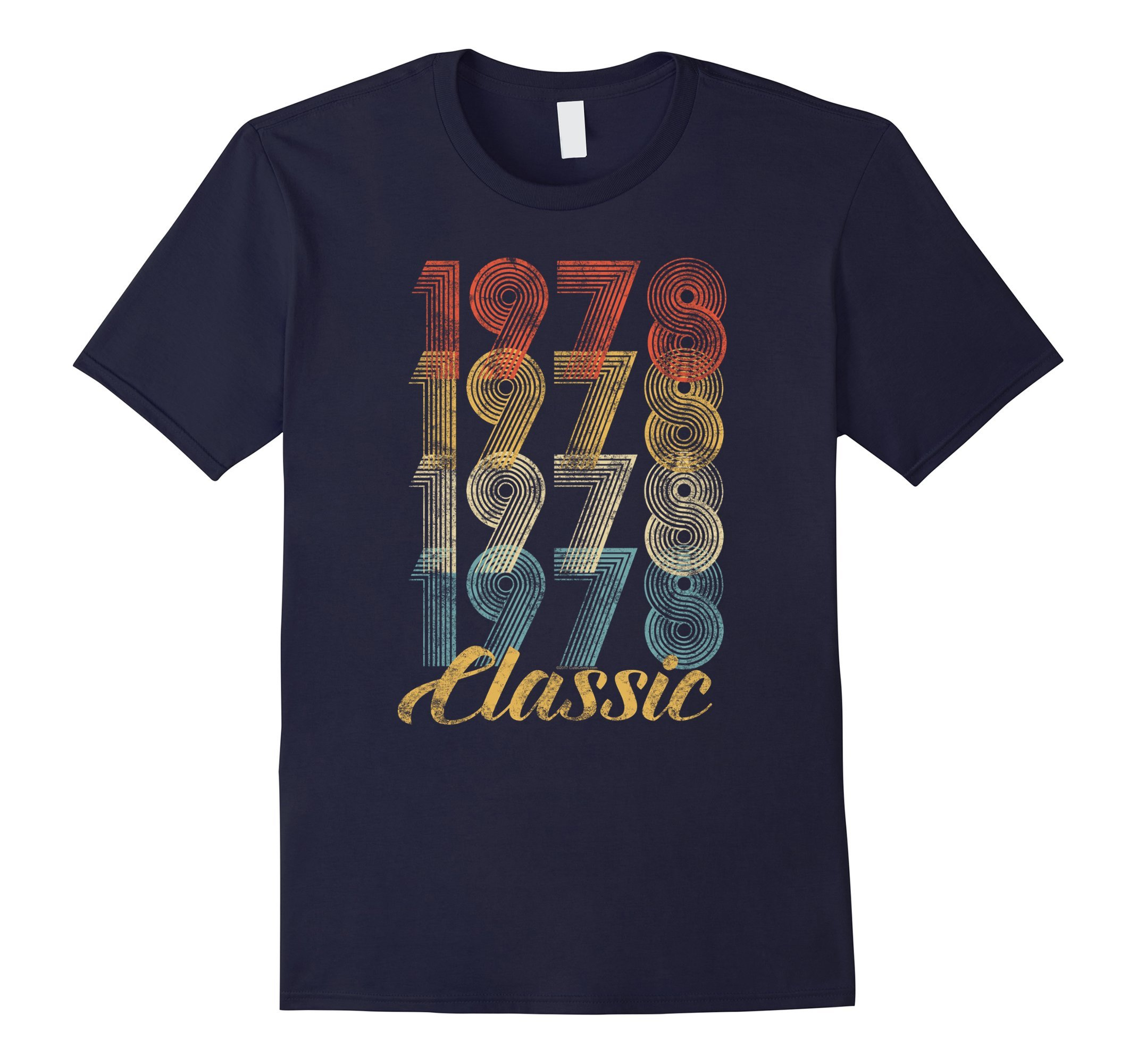 Mens CuteComfy 40th Birthday Gift Vintage 1978 T-Shirt Men Women Medium Navy