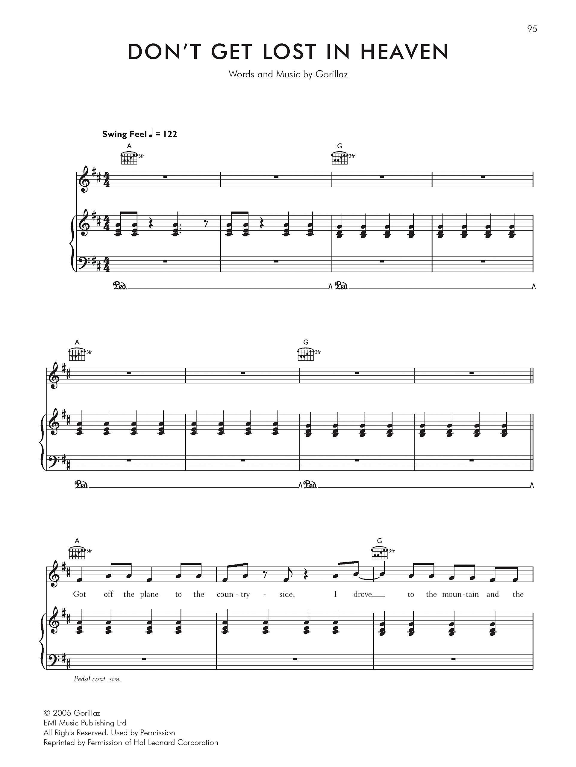 Gorillaz -- Demon Days: Piano/Vocal/Chords: Piano,Vocal,Guitar Pvg ...