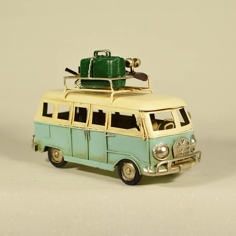 UniqueGift Rétro en Métal et Collection Bleu Clair VW Van Modèle–VW Camper–Figurine–Beach Van Modèle–Métal Classique Van de Table Ornement Figurine rd