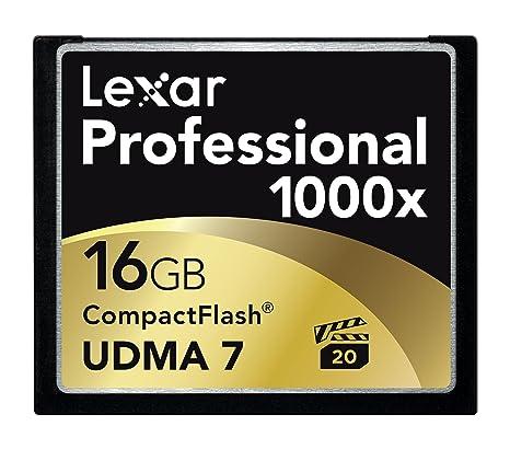Lexar Professional 1000X - Memoria Compact Flash de 16 GB (enchufar y Usar), Negro