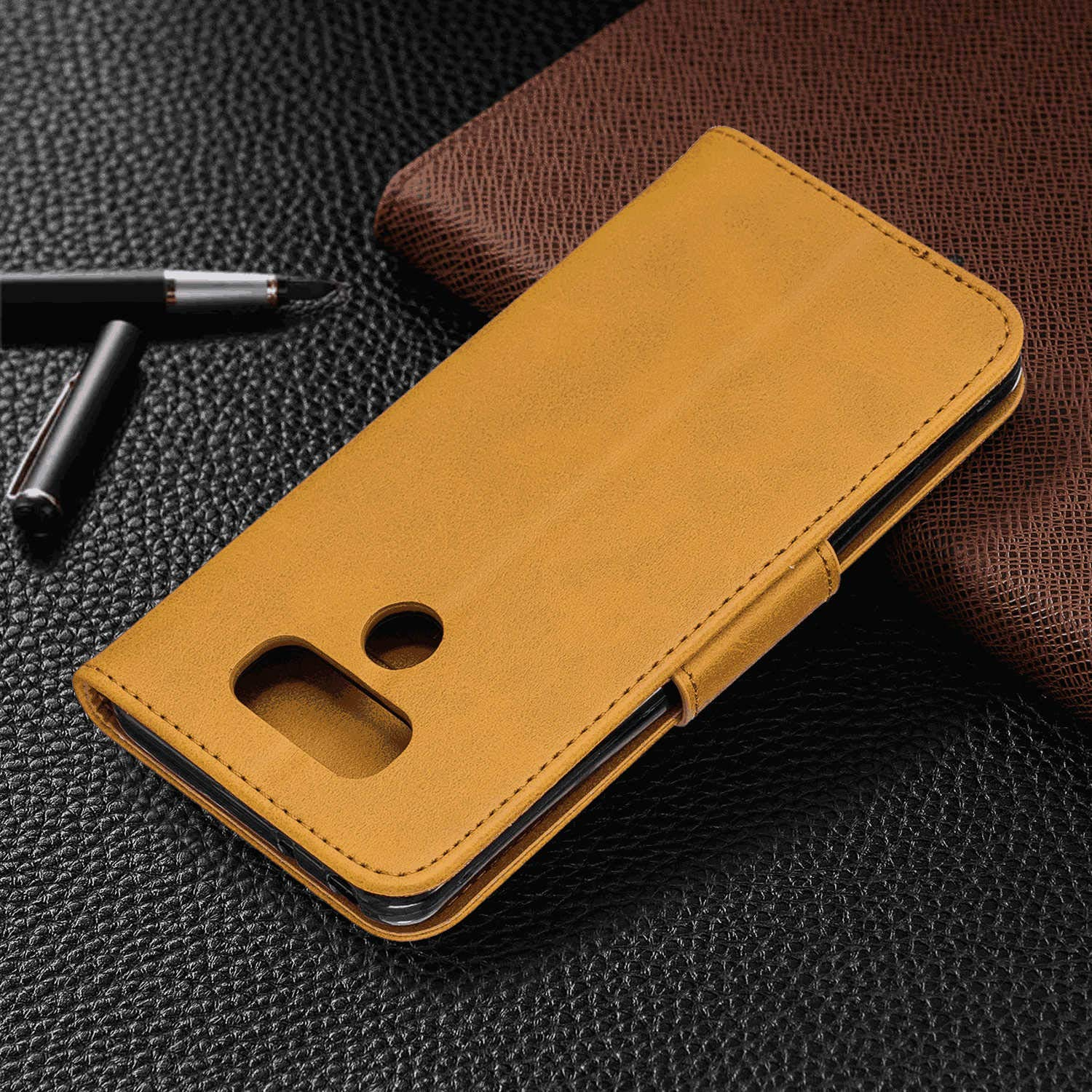 Cover for Samsung Galaxy A40 Leather Kickstand Card Holders Extra-Durable Business Wallet case with Free Samsung Galaxy A40 Flip Case