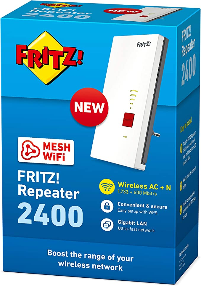 Avm Fritz Repeater 2400 International Wifi Ac N Computer Zubehör