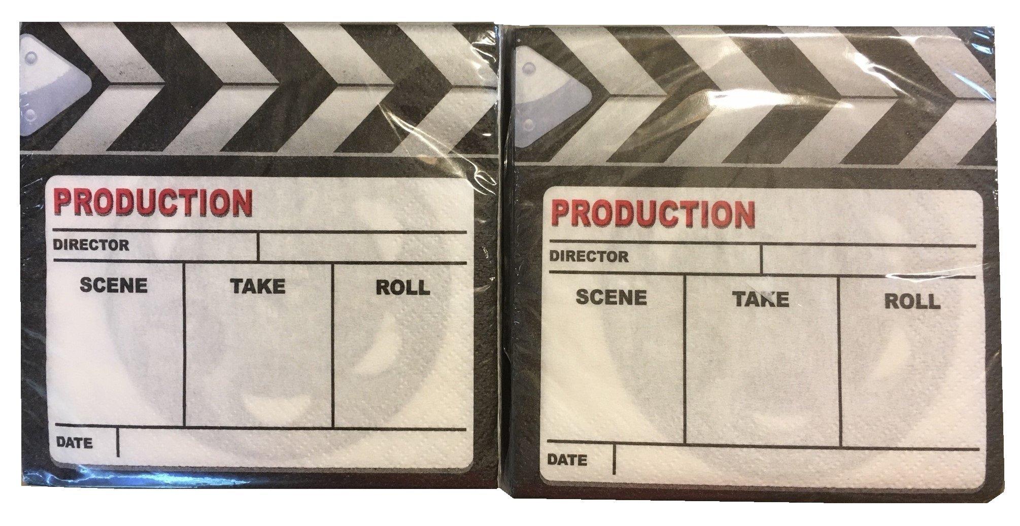Set of Two Movie Take Napkin Party Set