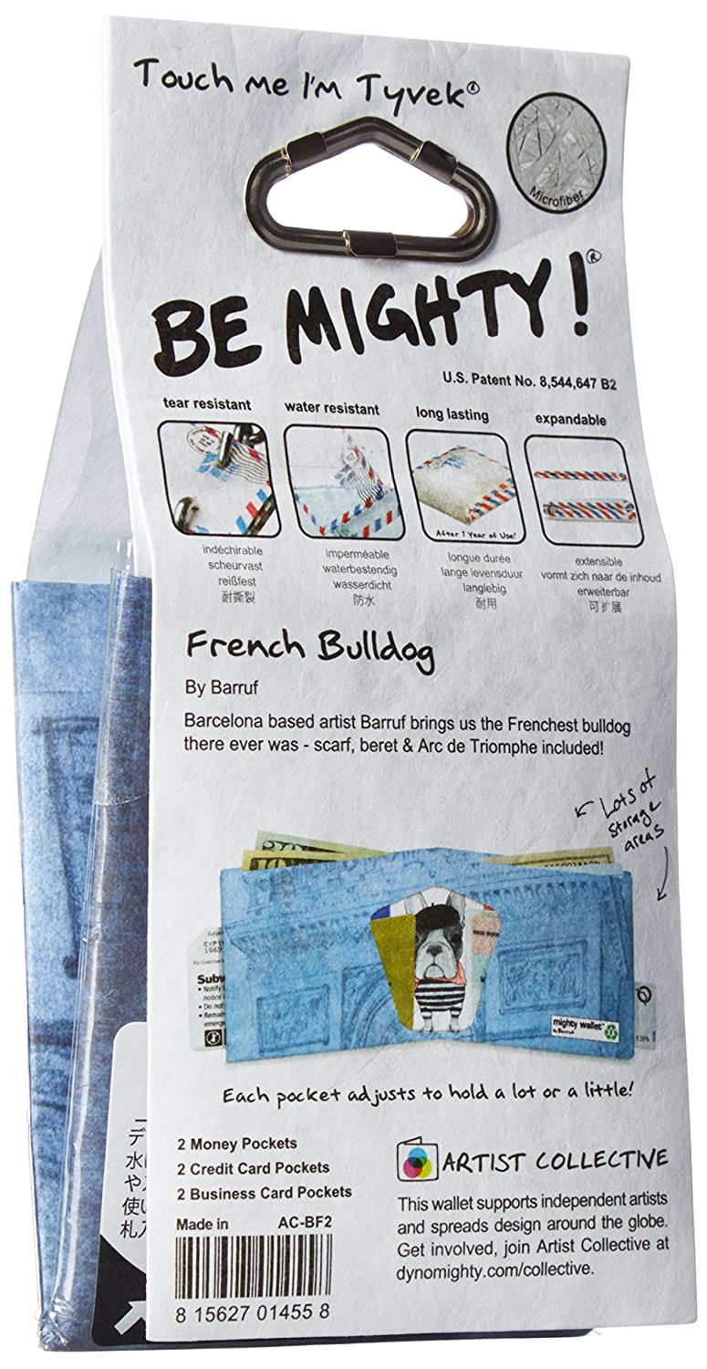 Amazon.com : Dynomighty Mighty Tyvek Wallet, FRENCH BULLDOG by Barruf, Water/Tear/Stain Proof : Beauty