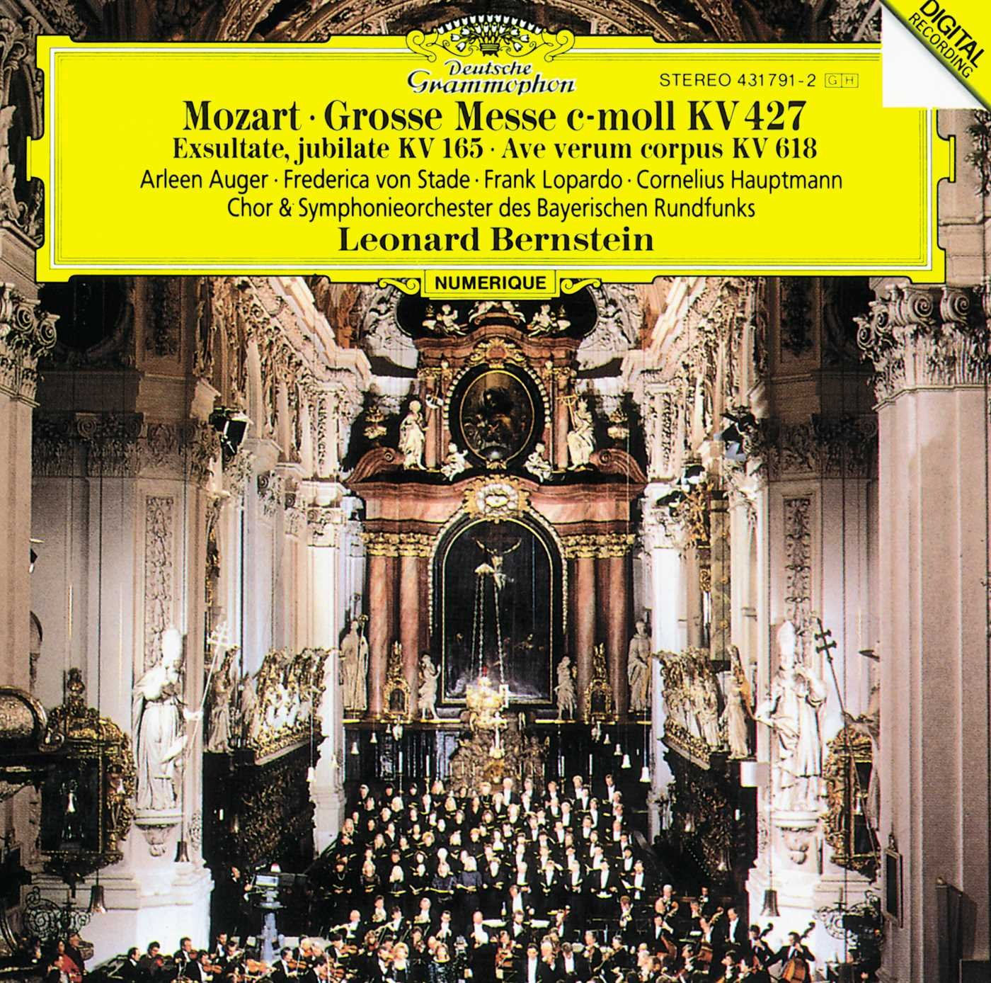 Mozart: Great Mass in C minor, K. 427; Exultate, jubilate, K. 165; Ave verum corpus, K. 618 by CD