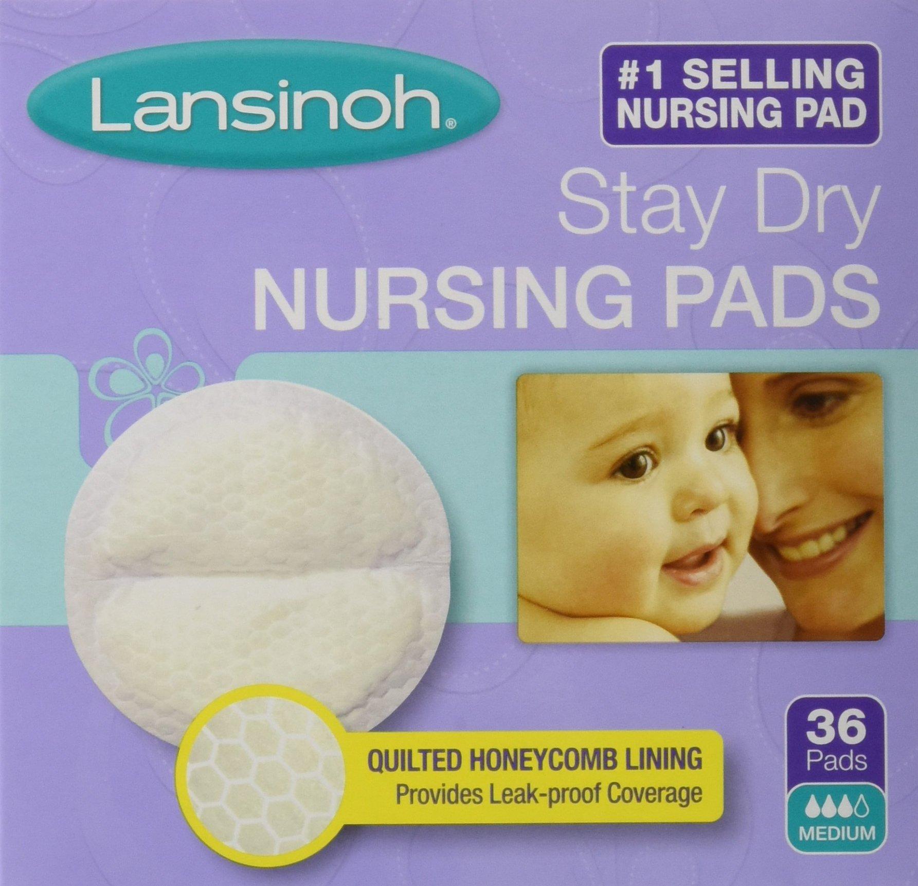 Lansinoh Stay Dry Nursing Pads Medium 36 Each (Pack of 2) by Lansinoh